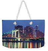 Minneapolis Skyline At Night Weekender Tote Bag