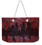 Minneapolis Skyline Brick Wall Mural Weekender Tote Bag