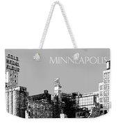 Minneapolis Skyline Mill City Museum - Silver Weekender Tote Bag