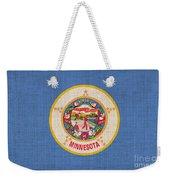 Minnesota State Flag Weekender Tote Bag by Pixel Chimp