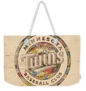 Minnesota Twins Logo Vintage Weekender Tote Bag