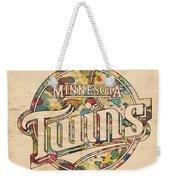 Minnesota Twins Poster Vintage Weekender Tote Bag