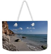 Binigaus Beach In South Coast Of Minorca With A Turquoise Crystalline Water - Paradise In Blue Weekender Tote Bag