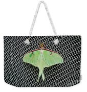 Mint Green Luna Moth Weekender Tote Bag