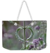 Mint Heart Weekender Tote Bag