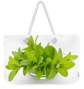 Mint Sprigs In Bowl Weekender Tote Bag by Elena Elisseeva