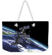 Mir Russian Space Station In Orbit Weekender Tote Bag by Leonello Calvetti