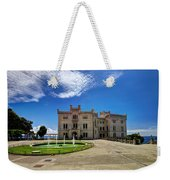 Miramare Castle With Fountain Weekender Tote Bag