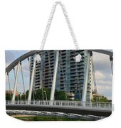 Fx1l820 Main Street Bridge In Front Of Miranova Weekender Tote Bag