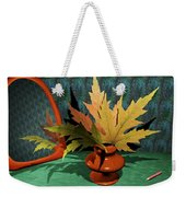 Mirror And Leaves Weekender Tote Bag