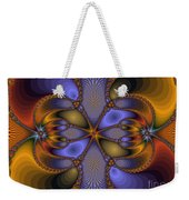 Mirror Butterfly Weekender Tote Bag