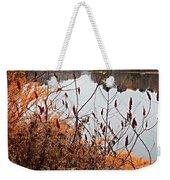 Mirror Smooth River Weekender Tote Bag