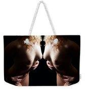Mirrored Nude Beauty Weekender Tote Bag