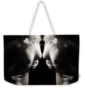 Mirrored Nude Beauty Weekender Tote Bag