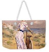 Miss Bicycle 1894 Weekender Tote Bag