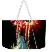 Miss Liberty And Fireworks Weekender Tote Bag