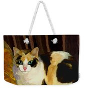 Miss Tillie On A Pillow Bright Weekender Tote Bag
