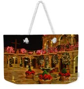 Mission Inn Christmas Chapel Courtyard Weekender Tote Bag
