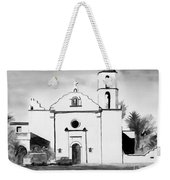 Mission San Luis Rey Bw Blue Weekender Tote Bag by Kip DeVore