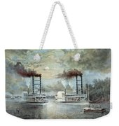 Mississippi River Race, C1859 Weekender Tote Bag