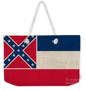 Mississippi State Flag Weekender Tote Bag by Pixel Chimp