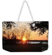 Mississippi Sunset 9 Weekender Tote Bag