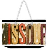 Missouri  Weekender Tote Bag