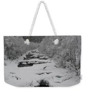 Mist Above The Creek Weekender Tote Bag