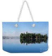 Mist On Lake Of Two Rivers Weekender Tote Bag