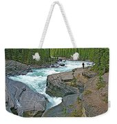 Mistaya Canyon Along Icefield Parkway In Alberta Weekender Tote Bag