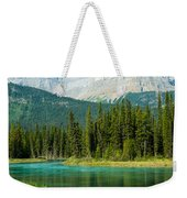 Mistaya River And Mountains Weekender Tote Bag
