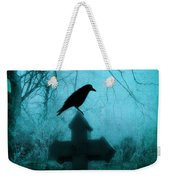 Misted Blue Weekender Tote Bag