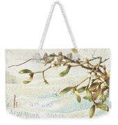 Mistletoe In The Snow Weekender Tote Bag by English School
