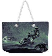 Scary Split-second At Sixty Mph Weekender Tote Bag