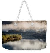 Mists And Bridge Over Klamath Weekender Tote Bag