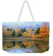 Misty Autumn Pond  Weekender Tote Bag
