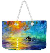Misty Calm - Palette Knife Oil Painting On Canvas By Leonid Afremov Weekender Tote Bag