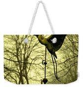 Misty Egret - Gold Weekender Tote Bag