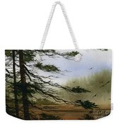 Misty Forest Bay Weekender Tote Bag