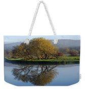 Misty Golden Sunrise Reflection Weekender Tote Bag