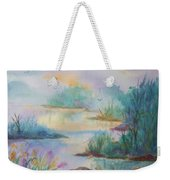 Misty Morn On A  Mountain Lake Weekender Tote Bag