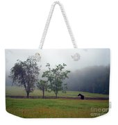 Misty Morning At The Farm Weekender Tote Bag