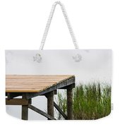 Misty Morning By The Dock Weekender Tote Bag