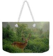 Misty Morning Deer Weekender Tote Bag