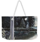 Misty Morning In The Vines 1 Weekender Tote Bag