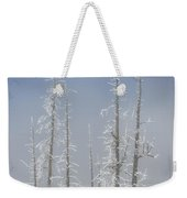 Misty Morning In Yellowstone National Park Weekender Tote Bag