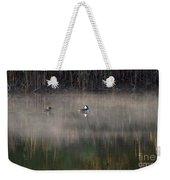 Misty Morning Mergansers Weekender Tote Bag