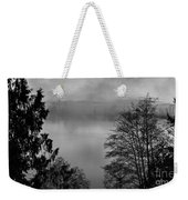 Misty Morning Sunrise Black And White Art Prints Weekender Tote Bag