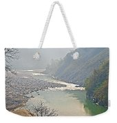 Misty Seti River Rapids In Nepal  Weekender Tote Bag