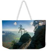 Misty Sunrise On Neurathen Castle Weekender Tote Bag